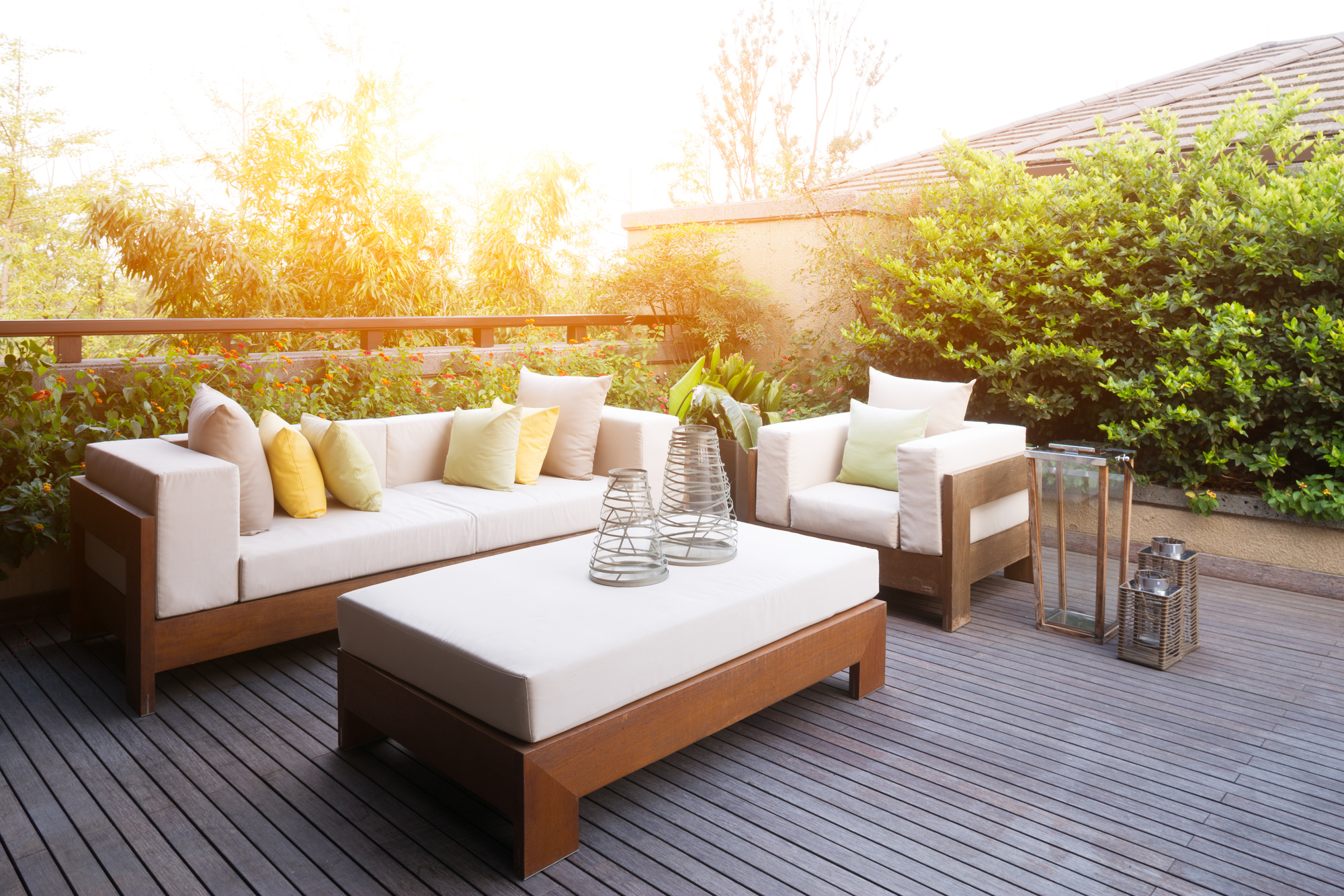 One home trend that isn't going away is the flow between indoor and outdoor living. Creating a space to relax and entertain out in the open air is the best way to add value to your home, both for resale pricing and your own enjoyment. With just a few changes, you can make your boring outdoor area feel like a personal oasis. You don't need to do a huge home makeover or total renovation to achieve this look. Here are ten ways your patio space can exceed expectations. 1. Fire Pit A firepit is one of the best investments you can make to transform your outdoor space into a place where everyone wants to gather. This easy addition to the patio will allow you to get so much more use from the outdoors. You'll want to toast marshmallows over the fire during summer evenings and cuddle up and get warm in the fall. A fire pit will extend the life of your patio by allowing you to extend the time you spend outside. 2. Outdoor Lighting The importance of lighting is often overlooked when thinking about an outdoor space. Truth is, you shouldn't just add a few bulbs or lanterns in the ground and call it a day. Rather, you should think through a complete lighting design to finish the space. Make sure you're lighting your area sufficiently so you can see across the patio. Be sure to especially light areas where you would gather, like seating and dining spaces. Consider using string lights, lanterns, and solar lamps to light up your patio. 3. Privacy Screen If you want to give your outdoor space a feeling like you're in a personal oasis, then a privacy screen is a must. Privacy screens are ideal for urban life where your neighbor's yard may be close to yours, but they'll fit well into a suburban backyard as well. These outdoor screens will help give your space a feeling of seclusion, which will be great if you're entertaining friends or want to relax outside on your own. It can go a long way to transform your space into your private paradise. 4. Area Rug Perhaps not your first thought for your outdoor area, but an area rug is a great addition nonetheless. An area rug can add an element of coziness to your outdoor space, making it feel warm and relaxing. It can also add a pop of color and pattern to your outdoor design. Choose an all-weather rug and made for patios so that it stands up to the outdoor elements. And try to stay away from a rug with a thick pile height. 5. Outdoor Fans When the weather is hot and muggy, the last thing most people want to do is spend time outside. But the heat of the summer is the best time to enjoy your patio. So what is the solution? An outdoor ceiling fan, of course. If you have a covered patio area, outdoor fans will help circulate air and cool the space down. Add this to your patio, and you can enjoy hanging out outside even on the hottest of days.  6. Pillows and Blankets Want to make your outdoor area feel cozy in one step? Add pillows and blanket. This simple action can transform your space into a warm and inviting area to spend your time. No matter what patio furniture you're on, sinking back into pillows gives an instant feeling of comfort. And blankets are ideal no matter what season; chilly summer evenings or fall nights when the cold starts to set in. 7. Conversation Area It doesn't matter what your entertainer level is; a conversation area in your backyard is a must. You may like hosting huge parties or just having a few family and friends over, but either way, you'll need a place for them to sit. Create a conversation area by arranging patio couches, loveseats, and armchairs in a circular configuration. This allows everyone to see each other and be involved in the conversation. You can also accent the conversation area with poufs and floor pillows. 8. Pergola Patio A pergola is a great addition to your patio as it can give definition to a seating or dining area. The wooden slats allow for some sunlight to shine through, so you'll be able to feel the warmth but not get overheated. It's a great update that will help give the effect of a permanent room without having to build an addition. You can add climbing plants or curtains to decorate and add personality. 9. Day Bed Love the idea of falling asleep under the wide-open sky but don't have a comfortable place to do so? That's where a day bed will come in handy. Add an outdoor daybed to your backyard space so you can lay back and relax, watching the sky pass overhead. Choose lightweight and breathable materials so you can lay in the sun without overheating. Add soft pillows and thin blankets for comfort. Sheer curtains overhead and around the side can keep out both the sun and bugs. 10. Dining Space Who doesn't love the idea of dining al fresco? Bring the refreshing feeling of dining out in the open air to your home by creating a dedicated dining space in your backyard. You can set out a table either on a concrete patio or out in the grass. A large table that can seat eight to twelve people is great for entertainers. But if you're just looking to host a few family or friends, a table of six will do just as well. Finish the dining space with its own lighting and a stunning tablescape. An Outdoor Space That Will Exceed Expectations Whether you're an evening relaxer or an outdoor entertainer, having an outdoor space that will exceed expectations is a must for any homeowner. It doesn't have to take a huge renovation or remodel of your deck and patio to achieve this backyard oasis. A few small changes can make your patio feel like an extension of your living space. You can get cozy with the family or sit and chat with friends, all while enjoying the open air. With these tips, it's easy to create an outdoor space you'll never want to leave. Feeling inspired to transform your space? Share this with a friend you'd like to relax with in an outdoor oasis. Then, check out more home and lifestyle articles.